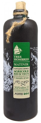 TRES HOMBRES - Captain's Choice - Matinik 2013 - Rhum vieux de Martinique - LA FAVORITE - 44%