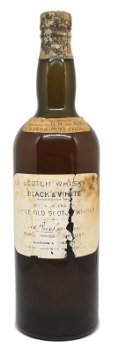 Whisky Black & White circa 1930